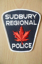 Patches: SUDBURY REGIONAL CANADA POLICE  PATCH (NEW* apx.10.5x9.5 cm)