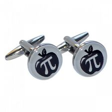 Apple Pi CUFFLINKS Maths Symbol Teacher Mathematician Ratio Birthday Present