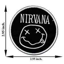 Black Nirvana Music Rock Band Song Smile Spirit Applique Iron on Patch Sew
