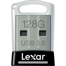 New Genuine Lexar JumpDrive S45 128GB USB 3.0 Flash Drive - Black, Silver