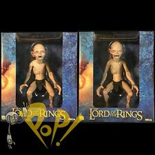 LORD of the Rings GOLLUM & SMEAGOL 1/4 Scale Action Figure Set NECA Reel Toys!