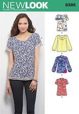 NEW LOOK SEWING PATTERN MISSES' TOPS SIZE 10 - 22  6395