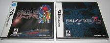 Final Fantasy Ring of Fates & FF Tactics A2 Bundle Nintendo DS Brand New!