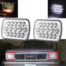 Pair H6054 7x6 LED Headlight Sealed Beam For Toyota Pickup Truck Square Headlamp