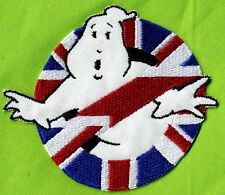 British/UK Flag Style Embroidered ADULT Size Ghostbusters No Ghost Iron On Patch
