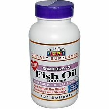 21st Century, Omega-3, Fish Oil, 1000 mg, 120 Softgels Exp Aug 2019