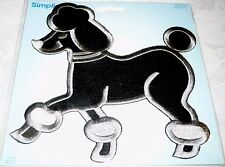 "Applique POODLE BLACK - Iron-on by Simplicity 6"" x 6"" - Great for Skirts"