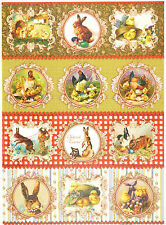 Papier de riz pour decoupage decopatch scrapbook craft feuille vintage easter farm