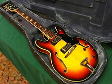 60s Vintage MIJ Univox Coily Hollow Body Guitar - Semi Set Neck - Rare Pickups