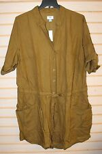 NEW OLD NAVY WOMENS PLUS SIZE 4X SAFARI ARMY OLIVE GREEN ROMPER SHORT OUTFIT