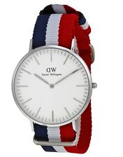 Daniel Wellington Watch * 0203DW Classic Cambridge White Dial NATO Strap for Men