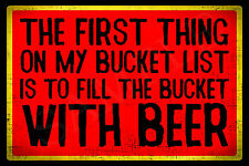 *BEER BUCKET LIST* MADE IN USA! METAL SIGN 8X12 FUNNY BAR PUB HAPPY HOUR TIKI