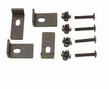 NEW BLACK SPEAKER CLAMP KIT 4 HEAVY DUTY STEEL CLAMP PLATES SCREWS & TEE NUTS DJ