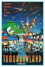 DISNEY COLLECTOR'S POSTER 12X18 - TOMORROWLAND - WALT DISNEY WORLD