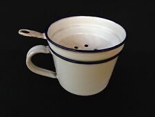 alter Emaille Kaffeefilter,weißer Emaille Filter