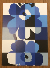 Marimekko postcards from Finland, SET OF 2, Blue Ruutu-unikko