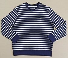 Men Polo Ralph Lauren Striped French Terry Crewneck Sweatshirt Pullover Shirt XL