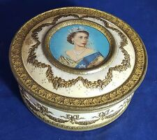 Beautiful Vintage Elizabeth II Collectable Tin by Meltis (Diameter - 12 cm)