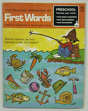1974 Preschool The Practice Workbook of First Words Dr. Richard E. Wylie Teach