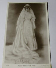 K317 - 1906 QUEEN VICTORIA of SPAIN - Portrait in Wedding Dress RP POSTCARD