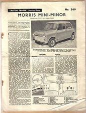 MORRIS MINI MINOR MOTORE operatore servizio dati No. 369 1961