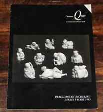 CATALOGUE VENTE 1993 DROUOT ART EXTREME ORIENT Coll AUGUSTINSON HUET + résultats