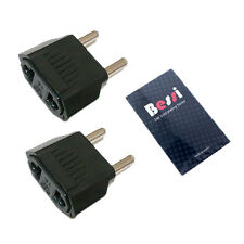 (110V to 220V) 2pcs 220V plug adapter USA to EU/ travel adapter/ converter/korea