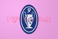 UEFA Champions League 9 Times Trophy (light blue) Sleeve Soccer Patch / Badge