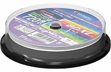 New Verbatim 10 100GB BD-R BDXL 3D Bluray Triple Layer Blu Ray Printable Disc