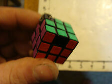 Vintage Puzzle: original RUBIK'S cube key chaing puzzle 1980's missing a few sti