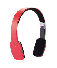 Bluetooth Foldable Slim Headphones - Red with Touchpad controls