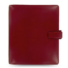 New Filofax A5 Metropol Organiser Planner Notebook Diary Red Leather - 026972