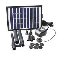 5W Solar Pump with Battery Backup Panel Kit Submersible Fountain Garden Pump