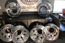 6 - NEW ALCOA ALUMINUM DUALLY 8.25 X  22.5 SEMI WHEELS MILLED TO 22 INCH