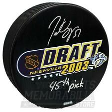 Patrice Bergeron Boston Bruins Signed Autographed 2003 45th Pick Draft Puck