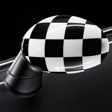 Mini Cooper Checkered Checker Mirror Caps Covers 2004-2008 R50 R53 OEM