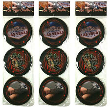 NEW 3 PKGS Las Vegas Casino Drink Coasters Party Bar Beer Gift FREE SHIPPING *