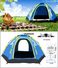 5-6 Person Waterproof Tent Instant Camping Family Pop Up Umbrella Tent Special#