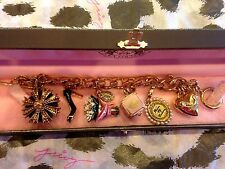 """JUICY COUTURE """"PROM QUEEN"""" THEME CHARM BRACELET"""