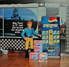 One Pepsi Vending Machine with 4 Pepsi Soda Cases 1:24 G Scale Diorama miniature