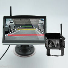 """Wireless IR Night Vision Rear View Back up Camera+5"""" Monitor for Truck Bus Van"""