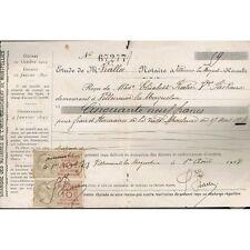 Étude VIALLA NOTAIRE VILLENEUVE les MAGUELONE 34 Reçu de Vve RATIER-RICHAUD 1918
