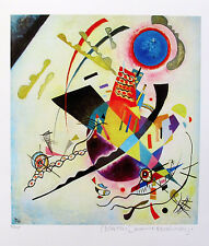 Wassily Kandinsky BLUE CIRCLE Estate Signed Limited Edition Art Small