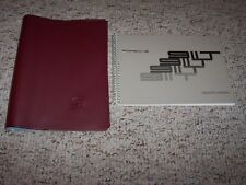1972 Porsche 911T 911 Turbo Owner's Owners Operator Driver's Manual Book w/ Case