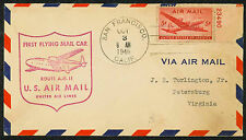 1946 FIRST FLYING MAIL CAR US AIR MAIL ROUTE AM 11 - SAN FRANCISCO (ESP#1691)