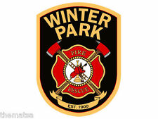 "WINTER PARK FLORIDA FIRE  DEPARTMENT 4"" HELMET BUMPER STICKER DECAL USA MADE"