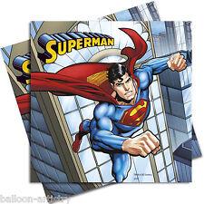 20 DC Comics Metropolis SUPERMAN Children's Party 33cm Paper Luncheon Napkins