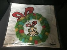 Pottery Barn Teen Grinch Seuss Cindy Lou Pom Pom PILLOW COVER Bed Christmas NEW