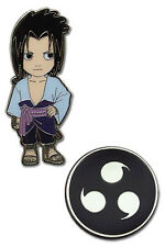 *NEW* Naruto Shippuden: Chibi Sasuke & Sharingan Pin (Set of 2) by GE Animation