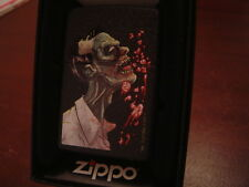 ZOMBIE EATING BRAINS APOCALPSE BLACK CRACKLE ZIPPO LIGHTER MINT IN BOX